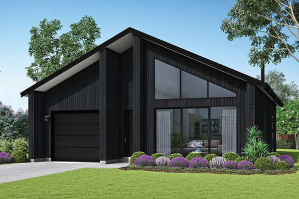 Black and Grey House Render