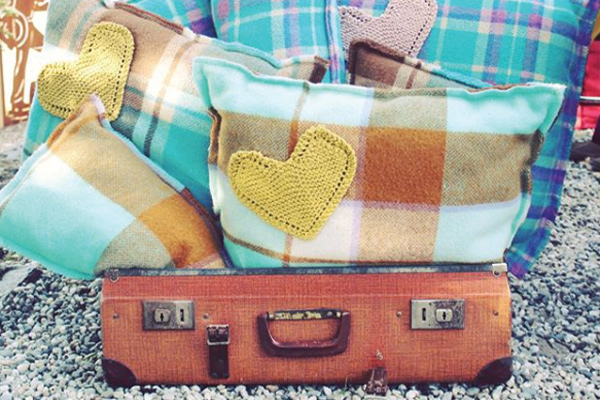 Suitcase Stuffed with Pillows