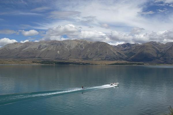 Water Skiing at the Lake